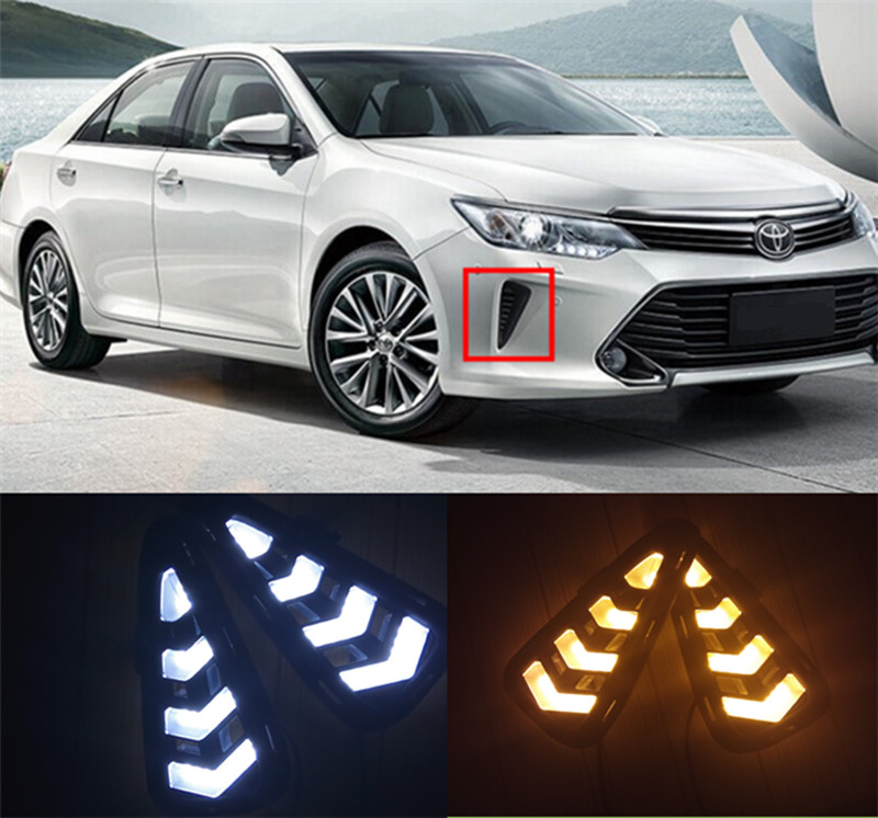 Free shipping high quality ! daytime Running Light Fog light High Quality LED DRL case for Toyota Camry 2015 2016 fog lamp 12V 6 бытовая химия wellery гель для стирки черных тканей 5000 мл