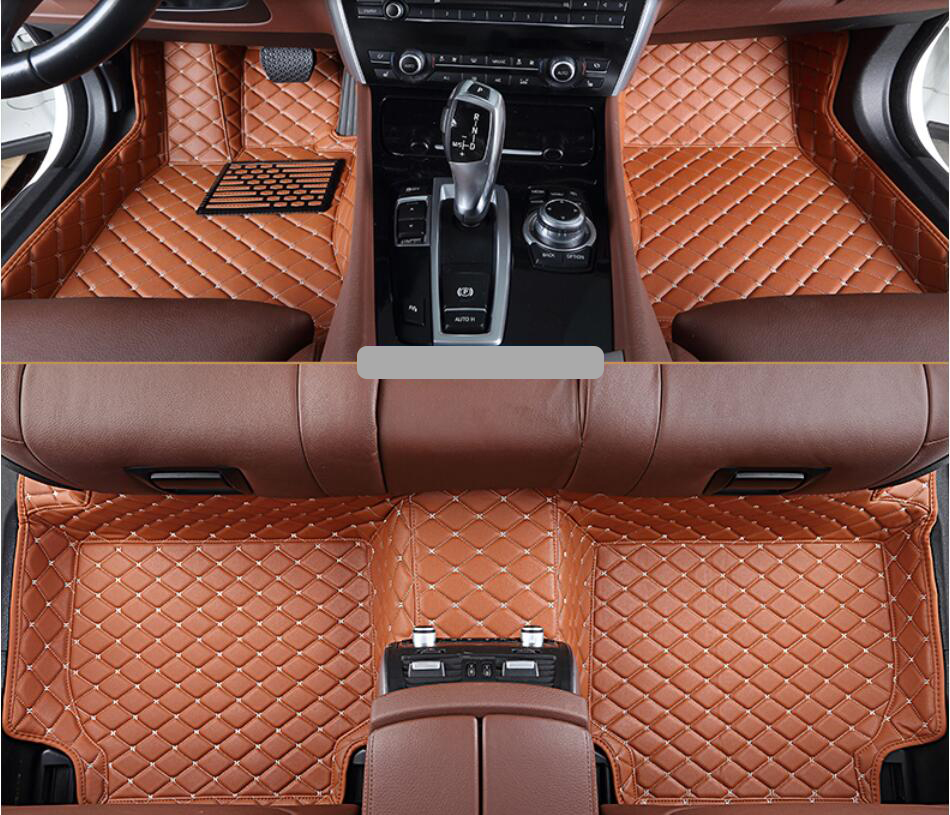 все цены на For Hyundai Santa Fe ix45 2013.2014.2015.2016.2017 Floor Mats Foot Carpets Mats High Quality Embroidery Style Soft Leather онлайн