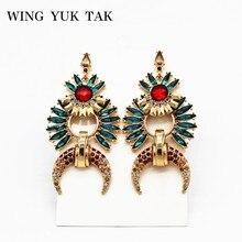 Wing yuk tak новые серьги золотого цвета для женщин панковские геометрические массивные висячие серьги современная мода трендовые ювелирные изделия