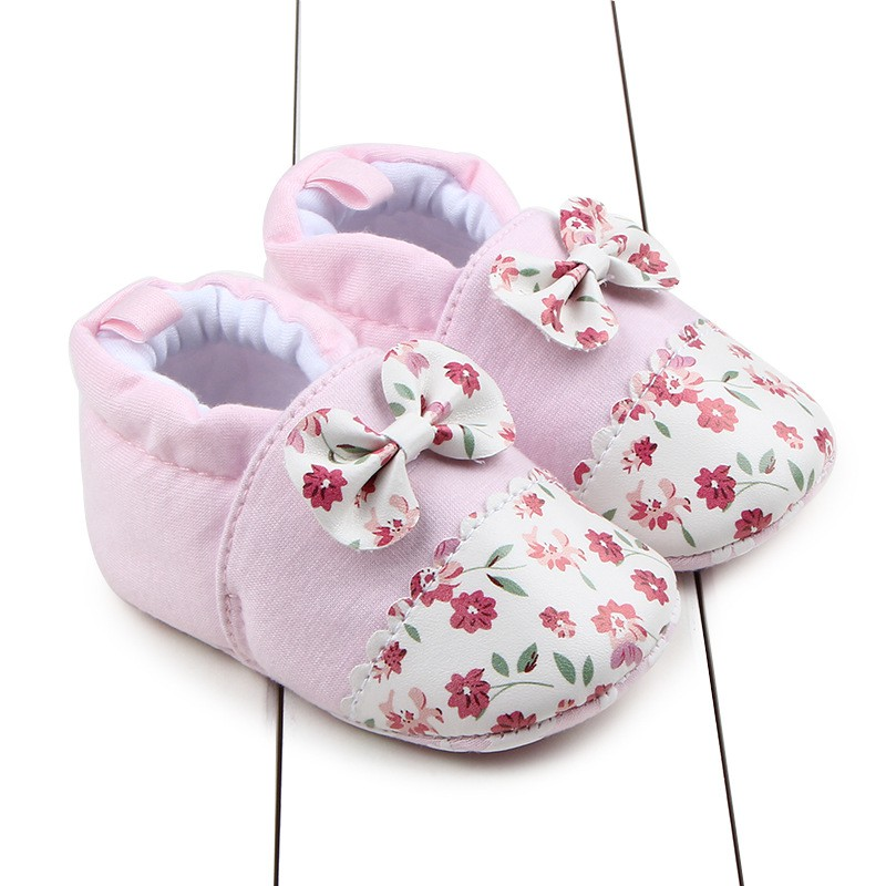 Infant Toddler Girl Soft Sole Unisex Shoes Baby Kid Home Wear Anti Slip Crib Warm Shoes Retail For 0-12M