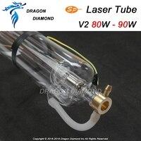 SP 80 w V2 CO2 герметичная лазерная трубка 80 мм Диаметр 1250 мм длина для CO2 Лазерный Аппарат для гравировки