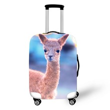 купить Animal Alpaca Design travel accessories suitcase protective covers 18-30 inch elastic luggage dust cover case stretchable по цене 1011.49 рублей