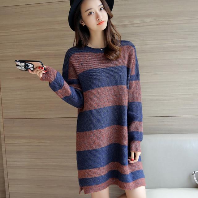 4338-2016 nuevo invierno vestido de suéter 55