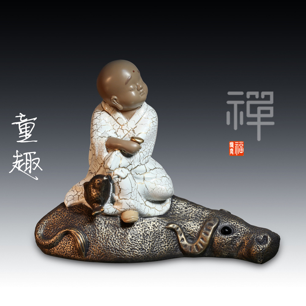 Factory direct wholesale Chinese young novices Desktop crafts resin figures ornaments creative home accessories