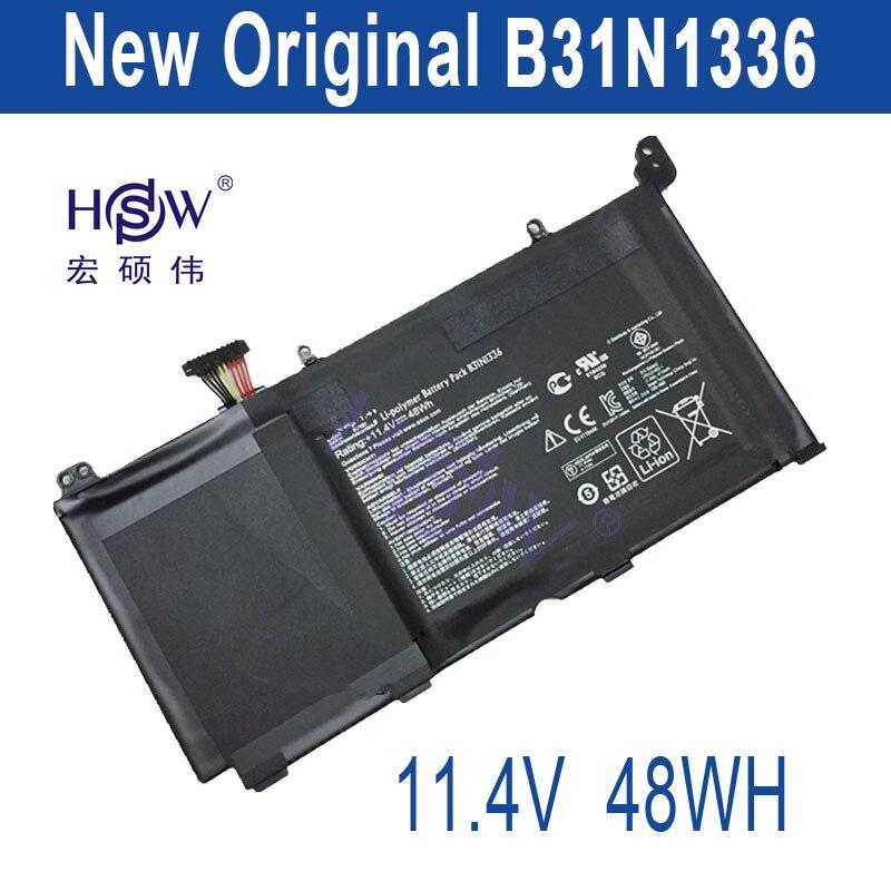 HSW 11.4V 48WH original genius laptop Battery B31N1336 For Asus VivoBook S551 R553L R553LN S551LN-1A High Quality  bateria akku