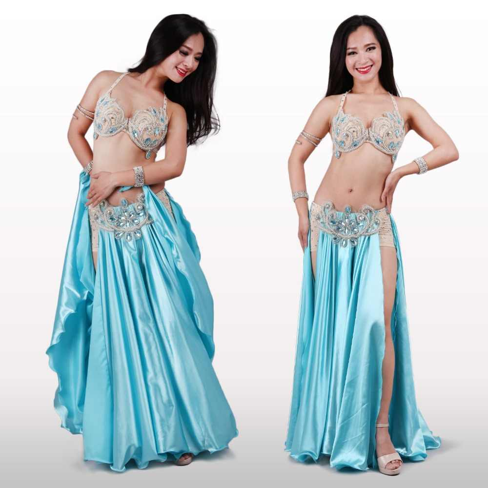 9af222aba 2017 New Performance Dancewear Bellydance Clothes Outfit C/D Cup Maxi Skirt  Professional Women Egyptian