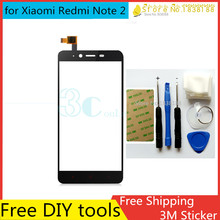 Tools+Original New Touch ScreenFor Xiaomi Redmi Note 2 Glass Capacitive sensor For Xiaomi hongmi Note 2 Touch Screen panel Black