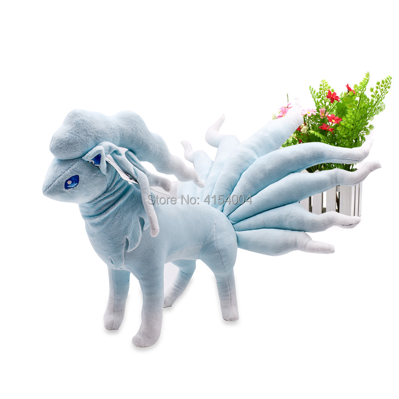 30 cm Big Size Anime Peluche Standing Toys Ice Alola Ninetales Stuffed Plush Dolls Great Christmas Gift For Children in Movies TV from Toys Hobbies