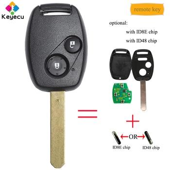 KEYECU ключ без ключа с 2 кнопками и 433 МГц и ID48/ID8E чип-FOB для Honda Civic CRV Jazz HRV FRV Stream