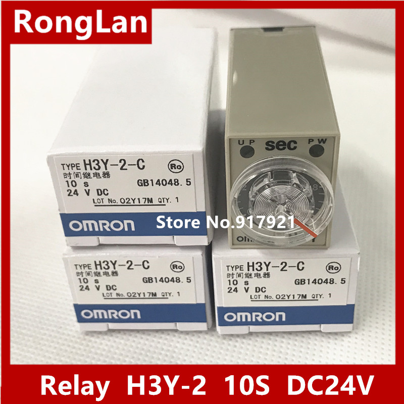 [ZOB] New original OMRON Omron time relay H3Y-2 10S DC24V --5PCS/LOT dhl eub 5pcs new original for omron time relay h3dk hbs 15 18