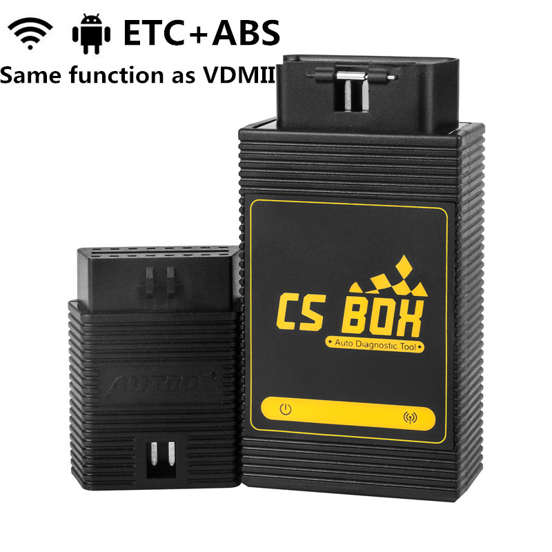 AUTOOL CS BOX OBDII Auto Diagnostic Tool ETC Airbag ABS PDF Key Coding Full System WiFi For Android Tablet PC Smart PhoneAUTOOL CS BOX OBDII Auto Diagnostic Tool ETC Airbag ABS PDF Key Coding Full System WiFi For Android Tablet PC Smart Phone