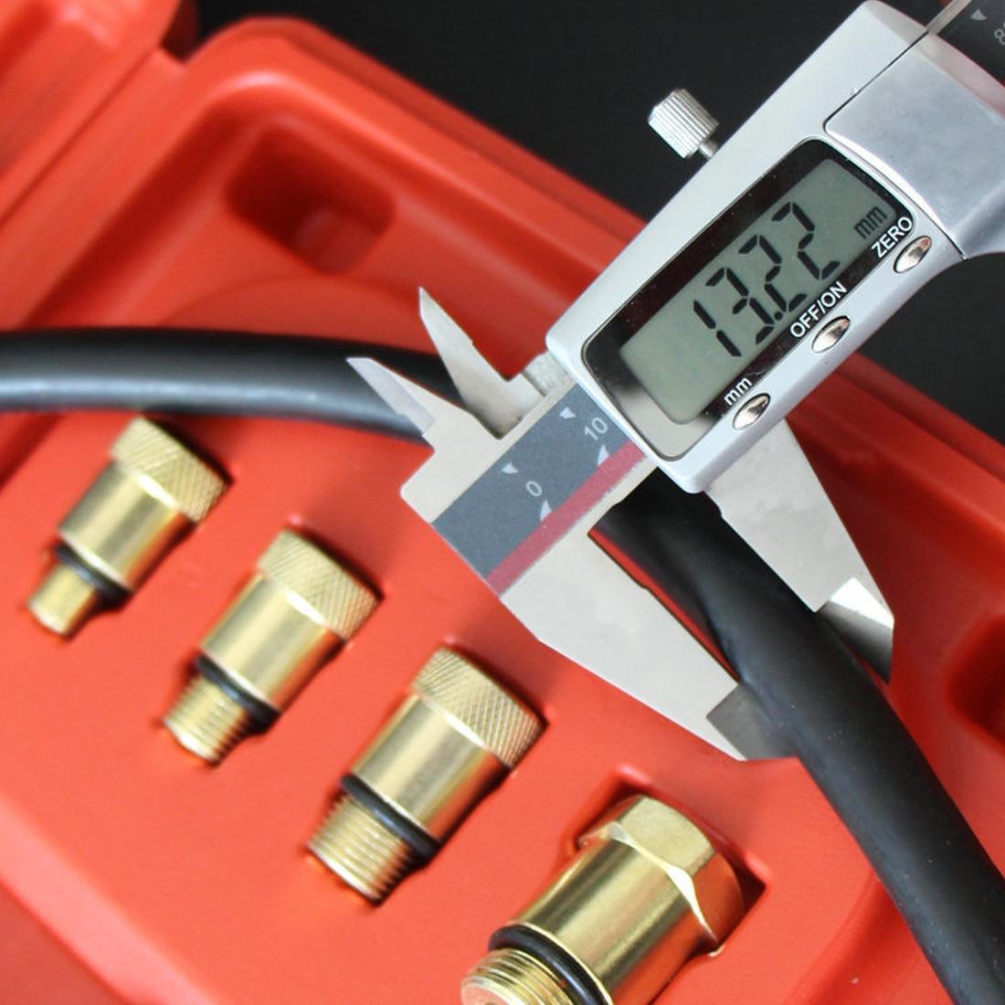 9 stücke Benzin Gas Motor Zylinder Kompressor Manometer Meter Test Druck Compression Tester Leckage Diagnose Werkzeug