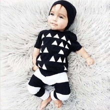 2017 Summer Newborn Baby Boy Clothes Short Sleeve Cotton T-shirt Tops + Pants Toddler 2PCS Outfit Kids Clothing Set