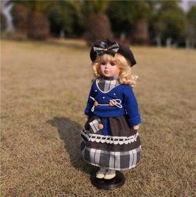 Hauteur 41 cm bien-être poupée russie princesse porcelaine bébé jouets artisanat européen décoration de la maison ameublement bébé cadeaux