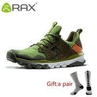 Rax Для мужчин Для женщин Открытый Trail Running обувь амортизацию спортивная обувь Для мужчин прогулочная обувь кроссовки 63 5C360 с подарком