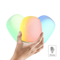 2018 night light new creative bedside color changing colorful USB charging touch atmosphere sensor lights