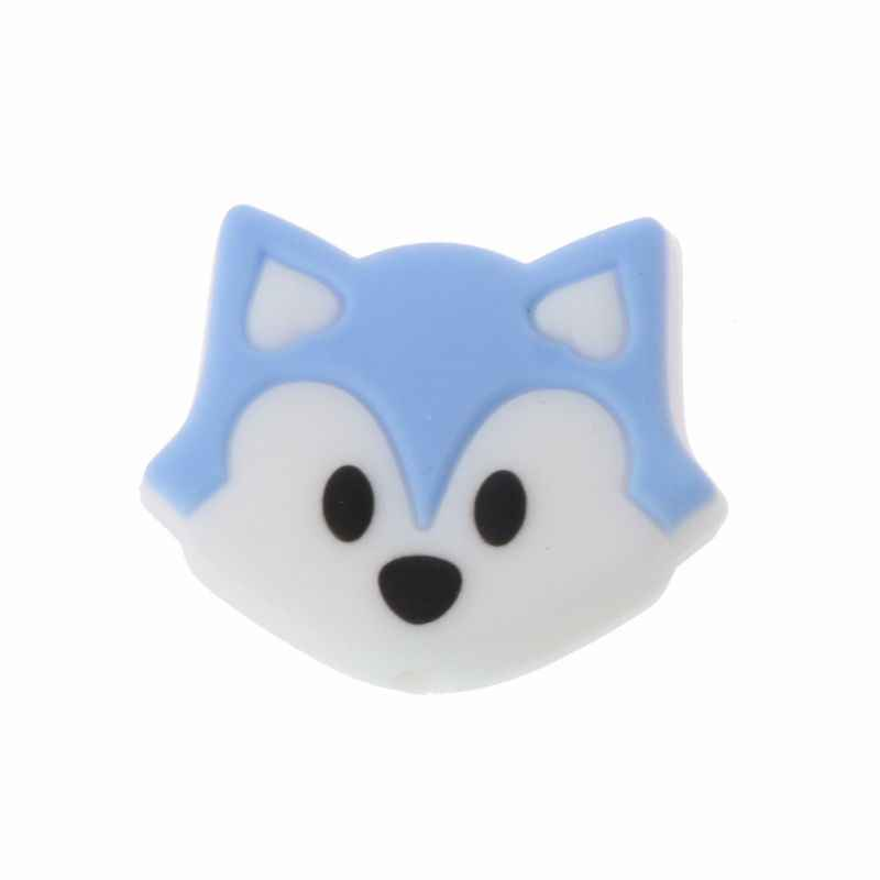 1 PCS Fox Baby Teething Beads Cartoon Silicone Beads For Necklaces BPA Free Teether Toy Accessories Nursing DIY