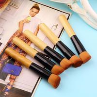 5 STÜCKE Bambus Griff Make-Up Pinsel Set Kosmetik Kit Puder Erröten bilden bürsten-styling-tools gesichtspflege Tropfen-verschiffen großhandel
