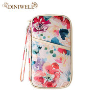 DINIWELL Fashion Creative Pattern Print Travel Women Needed Documents Package Passport Credit Card ID Holder Organizers