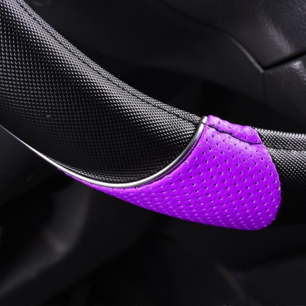 CAR-PASS RAINBOW PVC Кожен универсален волан - Аксесоари за автомобилния интериор - Снимка 6