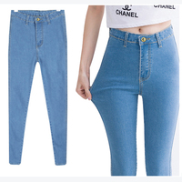 New 2017 Plus Size 3XL 4XL Women High Elastic Slim Skinny Denim Pencil Jeans Pants For