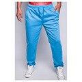 Cores dos homens sweatpants calças 2016 dos homens calças calças dos homens corredores pantalon homme