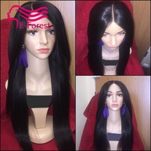 Hot Brazilian Unprocessed virgin full lace front lace human hair wigs glueless straight with Natural baby