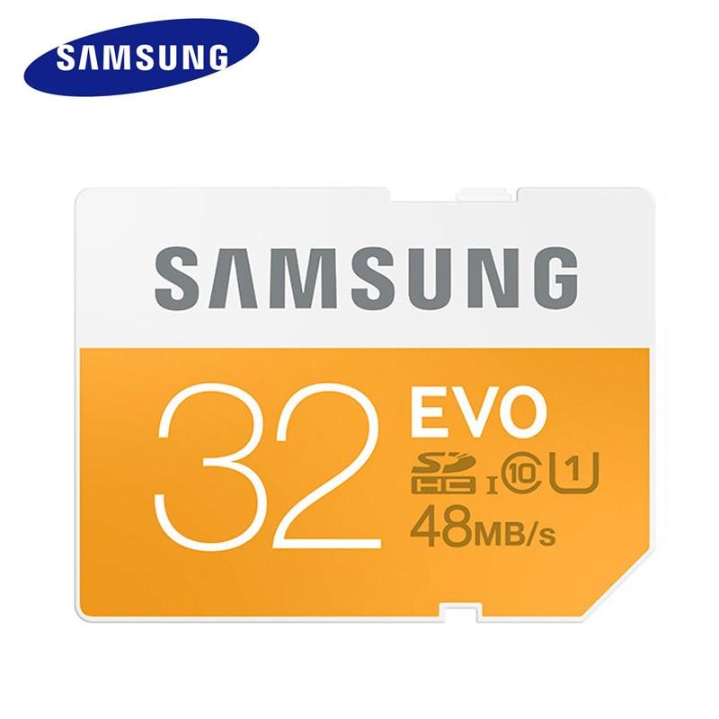 100% Originale PER SAMSUNG Scheda di Memoria 16 GB 32 GB 64 GB C10 UHS-I SD 48 M EVO SD Card Class 10 SDHC Per La Macchina Fotografica Digitale di Trasporto libero