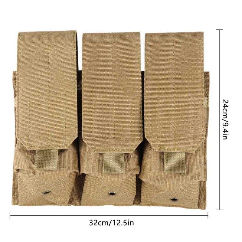 New Outdoor Hunting Molle Tactical Triple Magazine Pistol Handgun Shooting Vest Tool Dump Drop Bag Pouch 9282