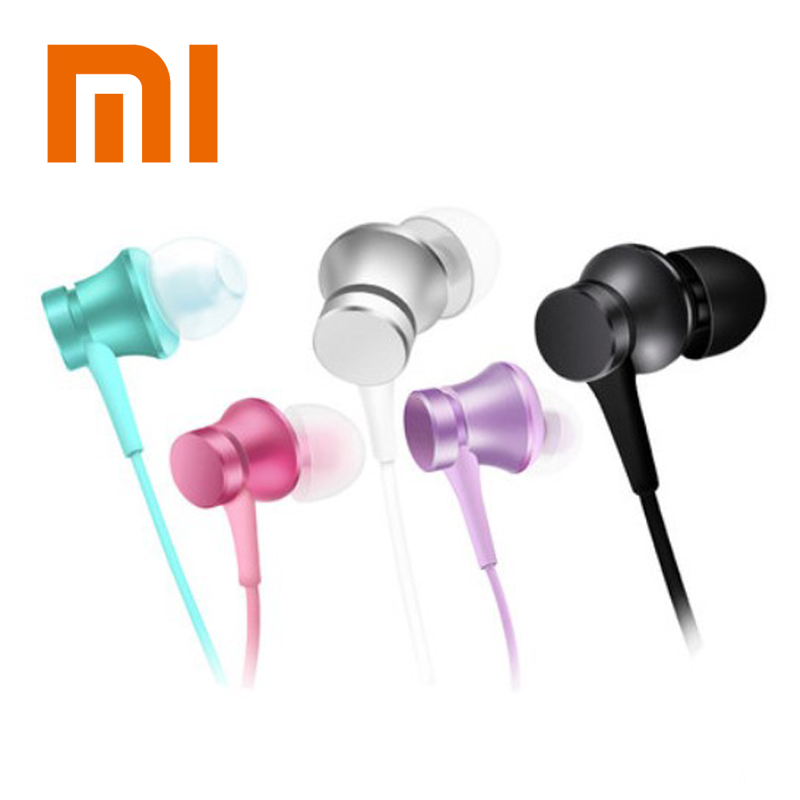 Original Xiaomi Mi Earphone Piston Basic In-Ear Stereo Eaphone with Mic Earbud Headset for iPhone 8 7 Plus Samsung tablets PC