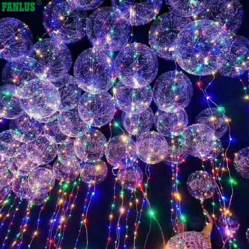 FANLUS 18 pulgadas 5 PCS llevó a la luz globos globos transparentes - Para fiestas y celebraciones