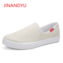 Fashion Hemp Canvas Shoes Men Ultralight Breathable Mens Casual Hot Sale 2019 Comfortable Loafers Flats Sepatu