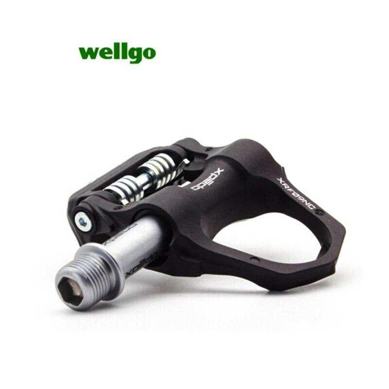 Wellgo XRF08CT compétition vélo de route en Fiber de carbone serrure pédale Triathlon Ultra-léger 170G haut de gamme accessoire de pédale de vélo