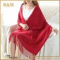 60 x 190 см сверхразмерные обычная красный новый конструктор одеяло унисекс акриловая упаковка кашемировые шали шарфа пашмины для весна осень
