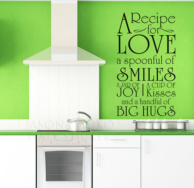 Online get cheap recipe for love alibaba for Kitchen quote decals