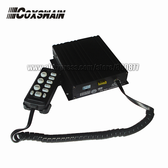 (CJB-100Z) 100W auto electronic siren/ 10 tones/ with Microphone/ 2 light switch/ 8 ohm  (Siren only, Without Speaker)