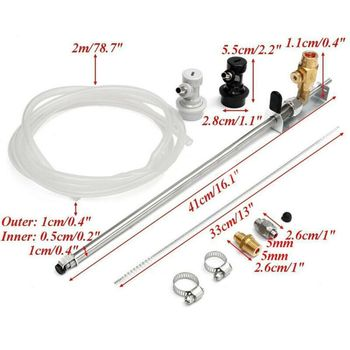 New Stainless Steel Beer Gun CO2 Bottle Filler Homebrew Kegging Kits With Ball Lock Connector qiang