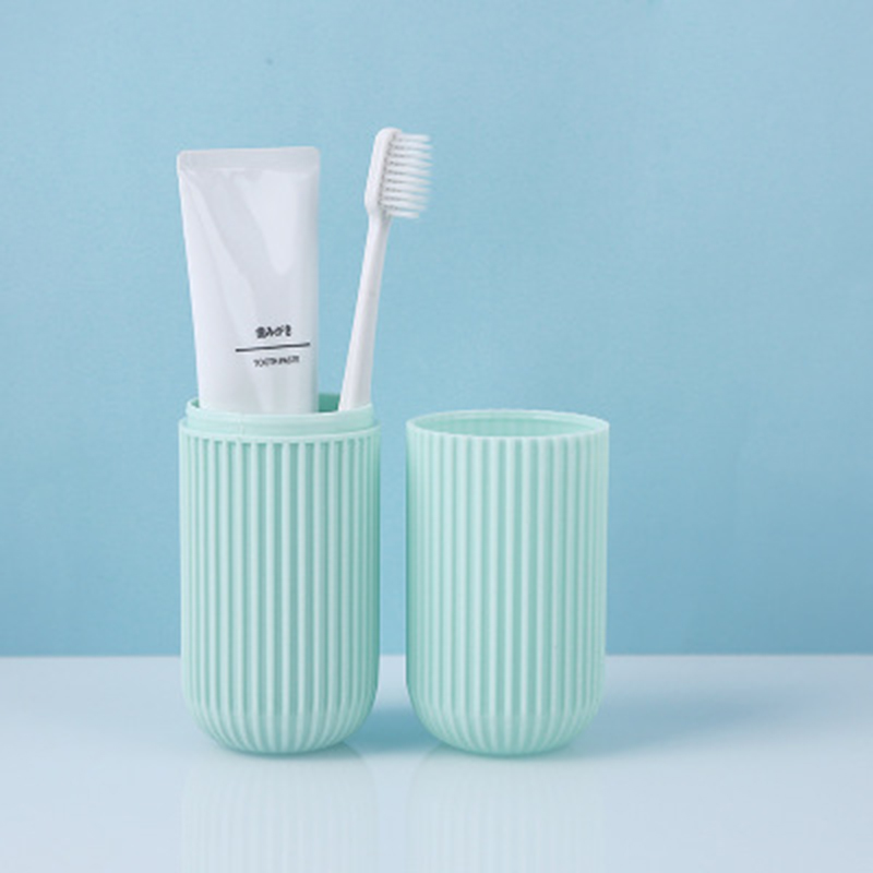 1pc Portable Travel Toothpaste Toothbrush Holder Cap Case Household Storage Cup