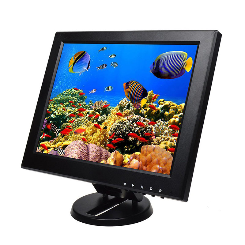 12 plastic 1024*768 small size tft lcd screen monitor vga hdmi 12 inch monitor with AV/BNC/VGA/HDMI/USB interface 15 cctv security monitor lcd hdmi bnc vga av usb port audio video 1024 768