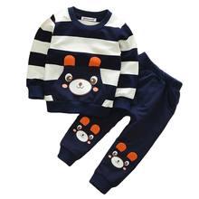BOTEZAI Fashion Spring Boys Clothes Long Sleeve Sport Suits Children Clothing Sets T-shirt+Pants 2 Pcs Girls Set Outfits