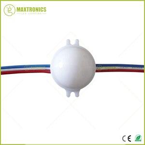 Image 5 - 20pcs /Lot DC12V WS2811 30mm Diffused LED Pixel Module Full Color 3LEDs 5050 RGB led lamp string D30 modules IP68 0.72W/PCS