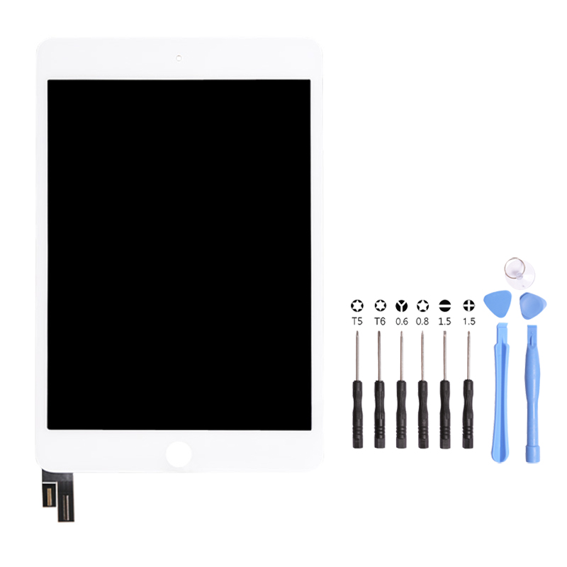 1Pcs For iPad mini 4 A1538 A1550 LCD Display Assembly Touch Screen Digitizer Panel Replacement Opening