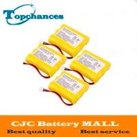 4 stuks Draadloze Telefoon Batterij Vervanging Ni-Cd AA 800 mAh 3.6 V Voor Vtech 80-5071-00-00 JST-H Geel Gratis Verzending