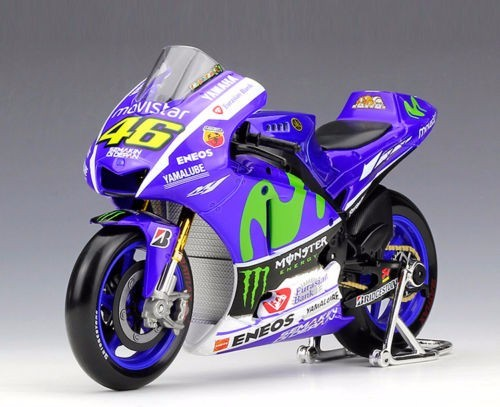 MAISTO YAMAHA 1:18 YZR M1 model MotoGP #46 diecast model motor Race Bikes Rossi Lorenzo Blue Color Kid Gift Collection Gifts