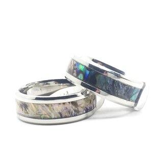 Image 2 - 20 шт., кольцо в виде ракушки для мужчин и женщин, унисекс, титановый узор из нержавеющей стали, полированный изысканный трендовый ювелирный продукт, оптовая продажа
