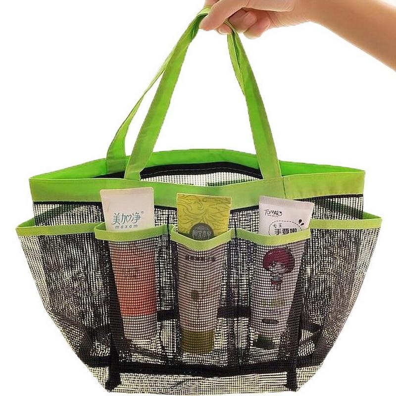1pcs Quick Dry Hanging Mesh Shower Bath Caddy Cosmetics Organizer ...