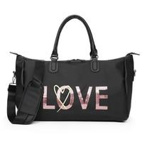 BLACK Gym Bag Women Fitness Sport Bags Large Capacity Training Female Yoga Duffel Bag Waterproof Handbags