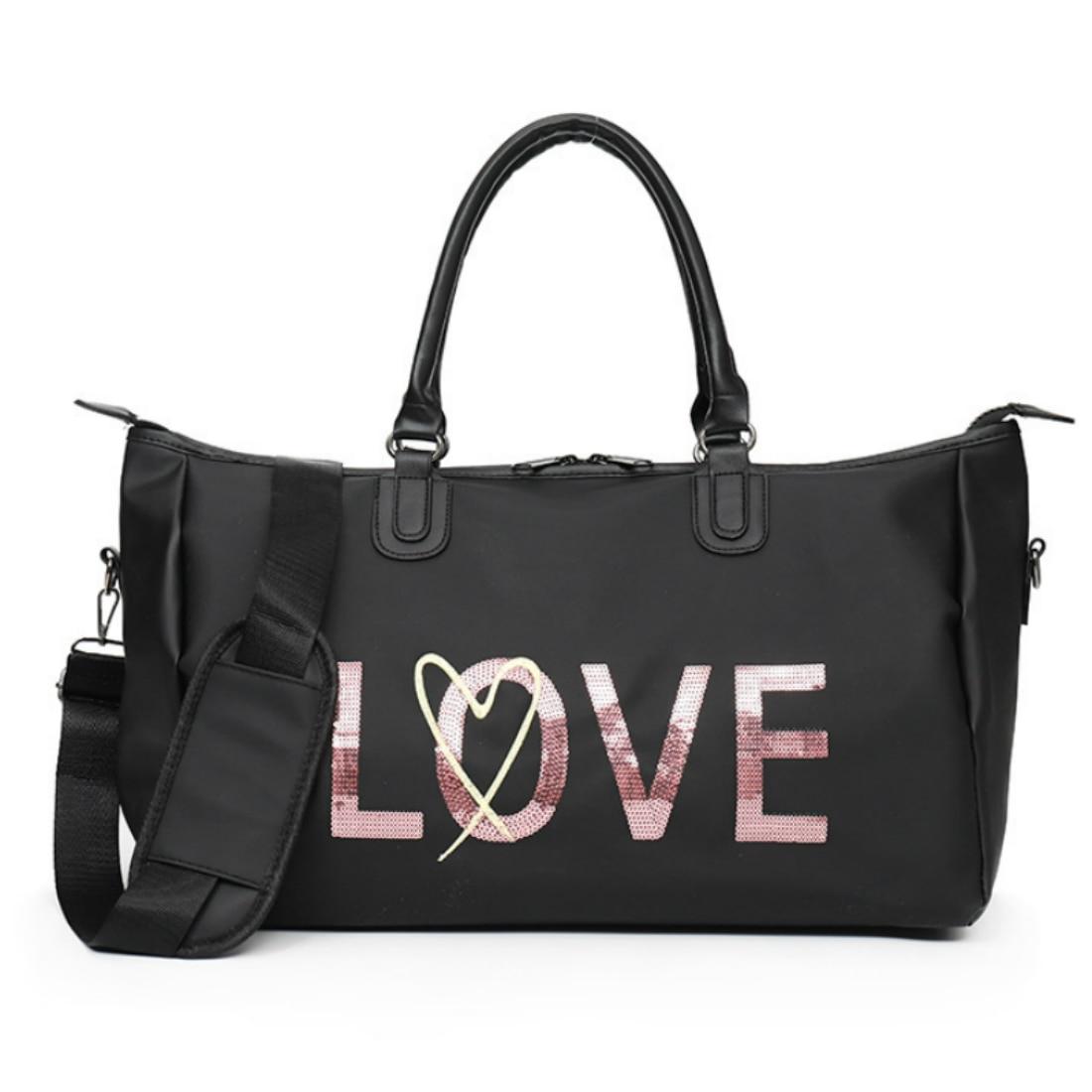 Love Pink Gym Bag Women Fitness Sport Bags Large Capacity Training Female Yoga Duffel Bag Waterproof Secret Vs Handbags