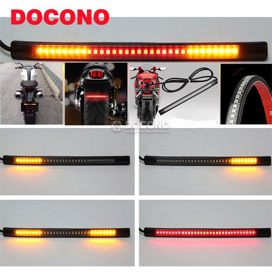 Motorcycle LED Brake Light Turn Signal Tail Light For KAWASAKI z1000sx tourer z800 z750 zrx1200 daeg ninja zx-6r(636) etc. old school motorcycle gauges
