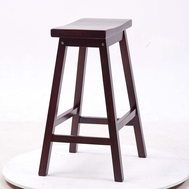 Online Shop Solid Hard Wood Bar Stool Chair Saddle Seat Indoor Home